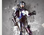 Robocop Murphy Art Poster Print - Wall Art Retro, 80s Movie