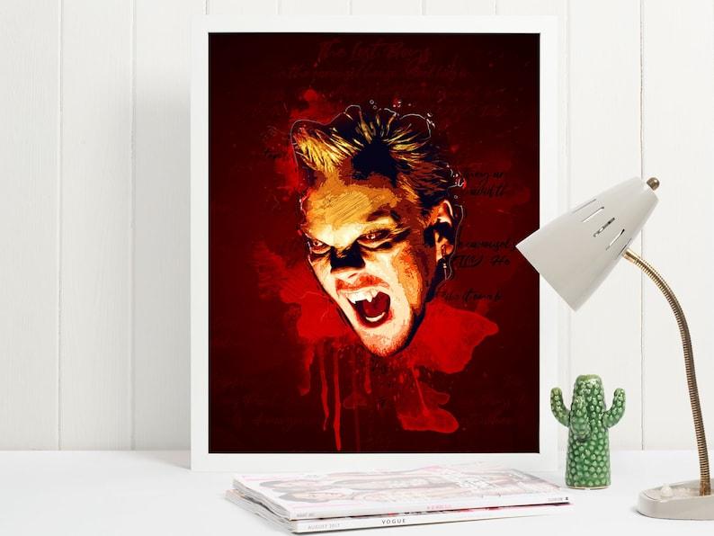 Lost Boys Vampire David Art Poster Print  Wall Art  Size A4 image 0