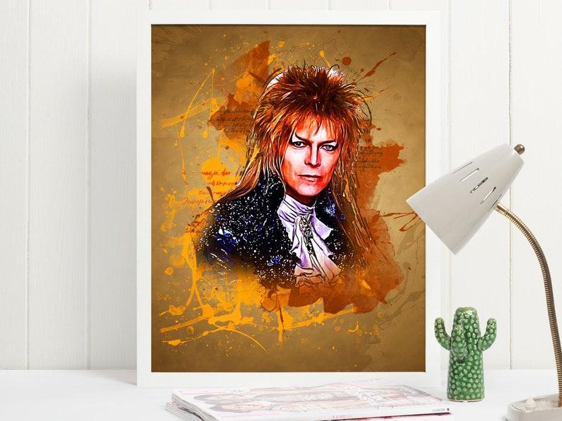Labyrinth Jareth Art Poster Print  Wall Art David Bowie  80s image 0