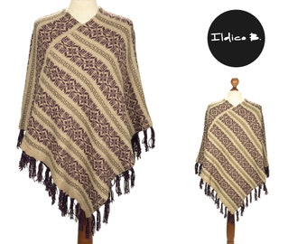 Poncho Laura with Norwegian pattern