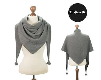 Triangle scarf/scarf/stole in cashmere/silk