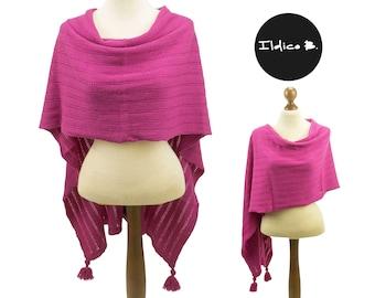 Merino wool/cashmere poncho/stola/scarf Eva