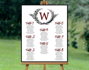 Monogram - Seating Chart
