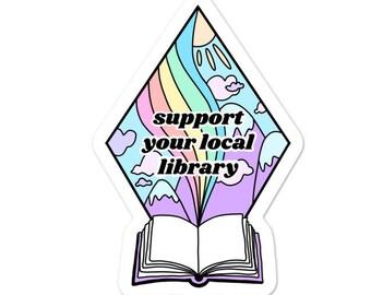 Teacher Stickers / Library Sticker / Librarian Gifts / Book Lover Gifts / Reader Sticker / Bookish Sticker / Cute Writer Sticker