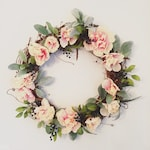 Lambs Ear & Blueberry Floral Wreath