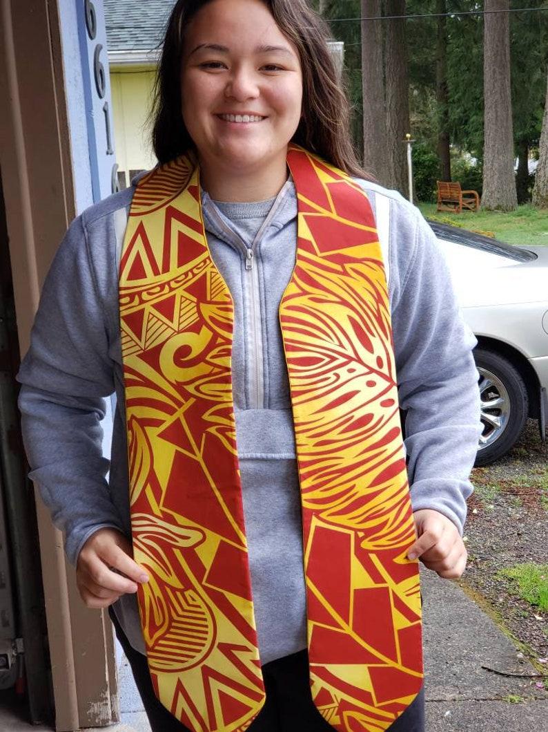 Handmade Polynesian graduation stole