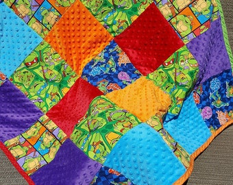 Teenage mutant ninja turtles quilt blanket