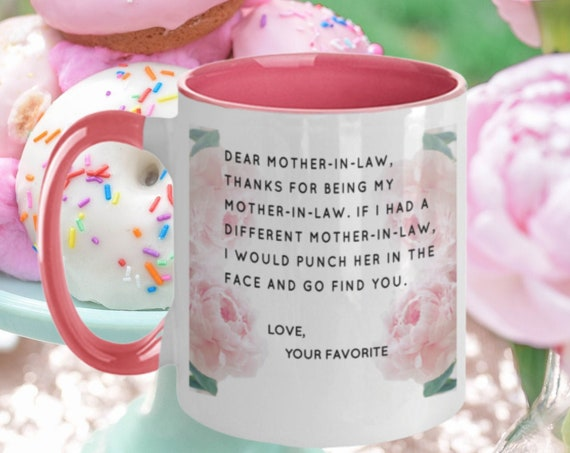 Dear Mother In Law Mug Perfect Christmas Gift Best Birthday Present