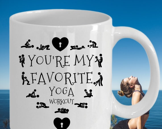 Personalized Valentines Day Gift, Naughty Valentines Day Mug For Boyfriend, Funny Anniversary Mug For Husband | You're My Favorite Workout