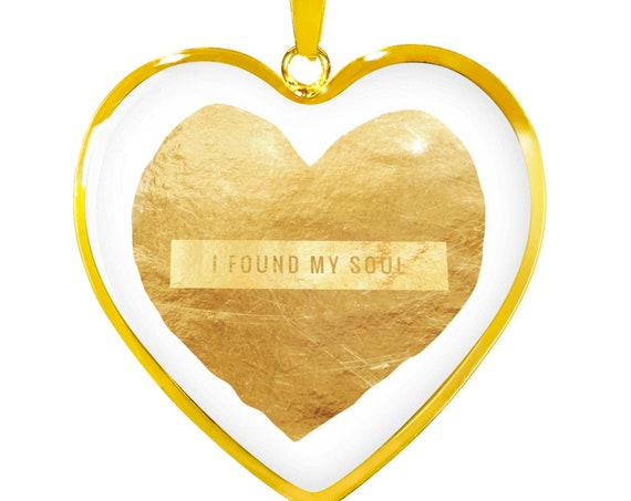 Custom Necklace For Wife To My Wife , Gift for Wife, Soulmate Jewelry, Husband Necklace, Heart Shape Gold Pendant, Anniversary Gift