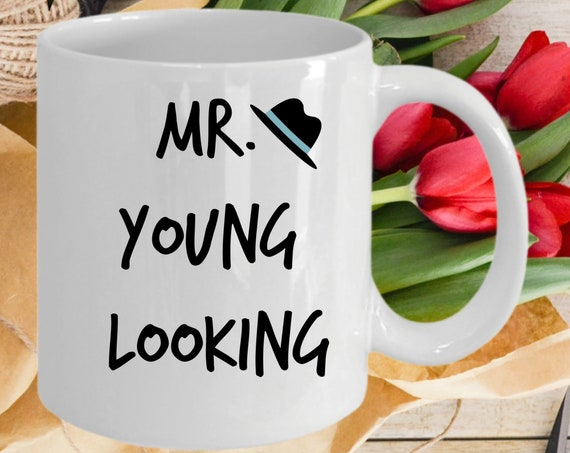 Romantic valentines day gift for him | Younger Looking Mug Set Est. 2020 | Anniversary Birthday