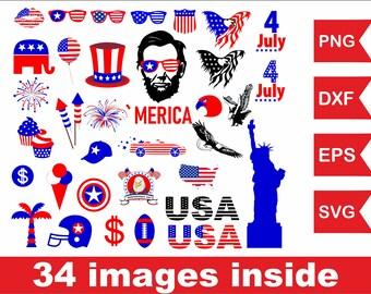 Fourth of July svg file, Eagle flag svg file, American flag svg file President svg file Independence Day svg file Statue of liberty svg file