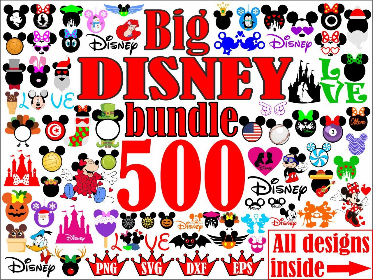 Disney Svg File Disney Font Svg File Disney Font Silhouette Etsy