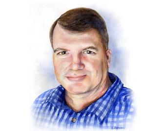 Watercolor Portrait - Custom Portrait - Watercolor Illustration - Custom Painting - Custom Portraits - Personalized Portrait