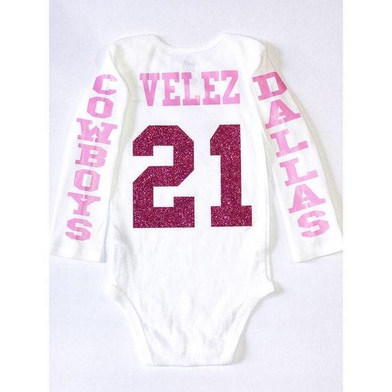 dallas cowboys jersey inspired babygirl onesie custom last  a420076f9