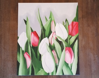 Acrylic on Canvas Tulip Painting 20 x 24 inches