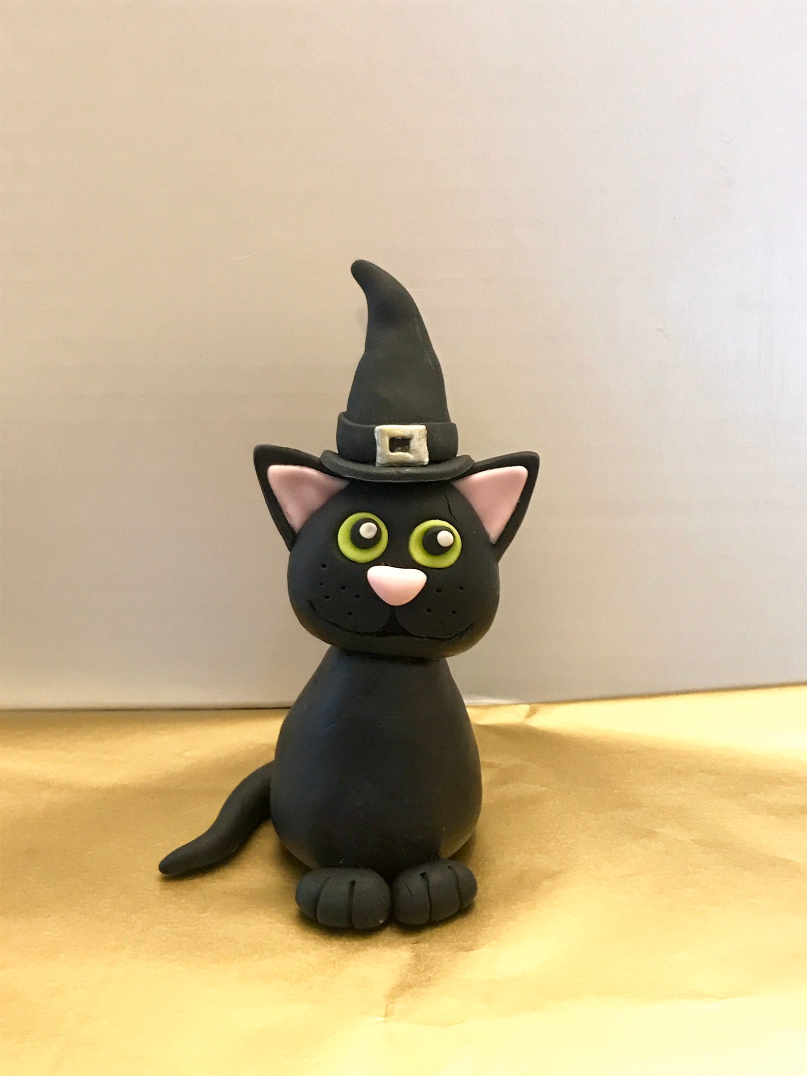 Halloween Cat Fondant Cake Toppers