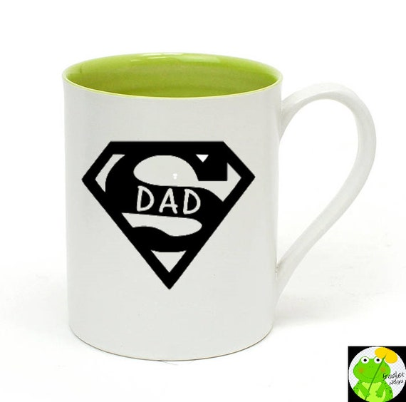 guillaume super papa custom une tasse de caf f te etsy. Black Bedroom Furniture Sets. Home Design Ideas