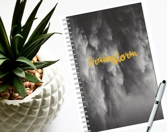 """Notebook- Black and White-80 pages-Lined or Blank 5.5"""" x 8.5"""" -Nature-Traveler Notebook-Boho Journal-Ideas-Dreams-Sketch-Gift for Her or Him"""