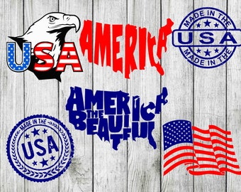 4th of July svg bundle, America svg bundle, 4th of july clipart, USA svg, US svg, cut files for cricut silhouette, png, dxf, eps, svg