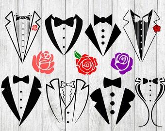 Tuxedo svg bundle, tuxedo clipart, tux svg bundle, cut files for cricut silhouette, svg, dxf, png, eps