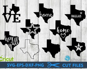 Texas state svg bundle, dallas texas svg bundle, texas svg, cut files for cricut silhouette, png, dxf, eps, svg