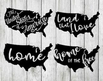 United States svg bundle, america svg bundle, USA svg, united states clipart, patriotic svg bundle, cut files svg, dxf, png, eps, iron on
