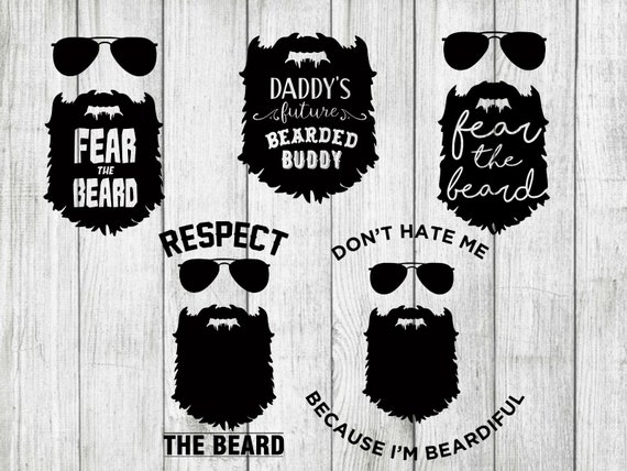 Beard Svg Bundle Beard Clipart Mustache Svg Bundle Cut Files Etsy