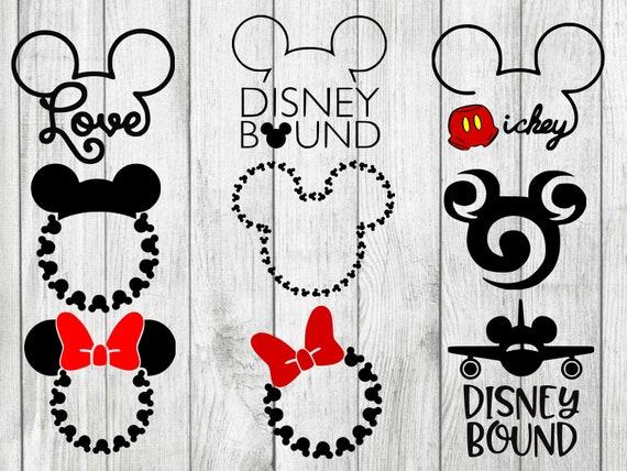 Disney Vacation Svg Bundle Minnie Mouse Monogram Svg Disney Etsy