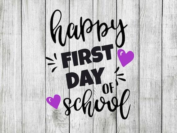 Happy first day of school svg school svg First day svg cut | Etsy