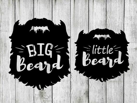 Big Beard Little Beard Svg Bundle Beard Svg Bundle Dad Son Etsy