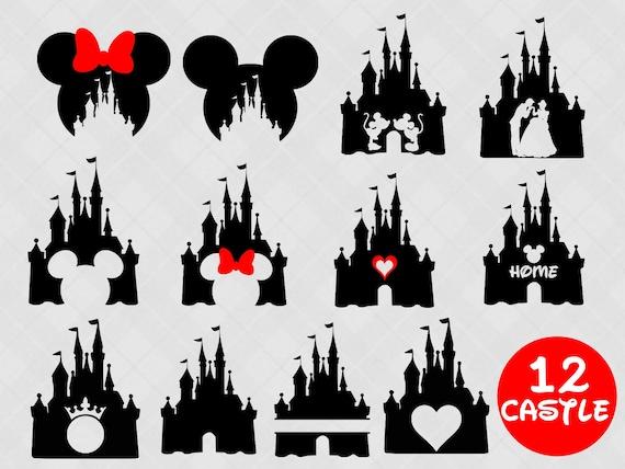 Disney Castle Svg Bundle Disney Castle Clipart Heart Head Etsy