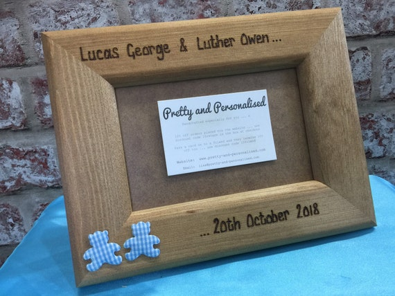 Personalised Photo Frame Driftwood Style Wooden Frame Tante Maman Godmother
