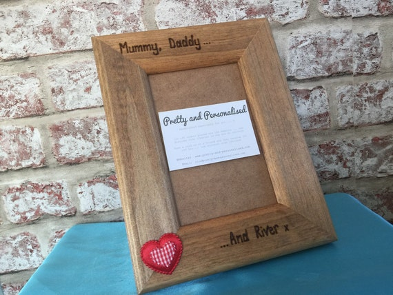 """Personalised Photo Block Wooden 6x4/"""" 7x5/"""" Picture Frame Any Mummy Nanny Auntie"""