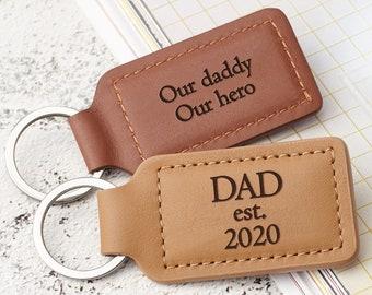 leather moustache bookmark and keychain Father\u2019s Day mini set