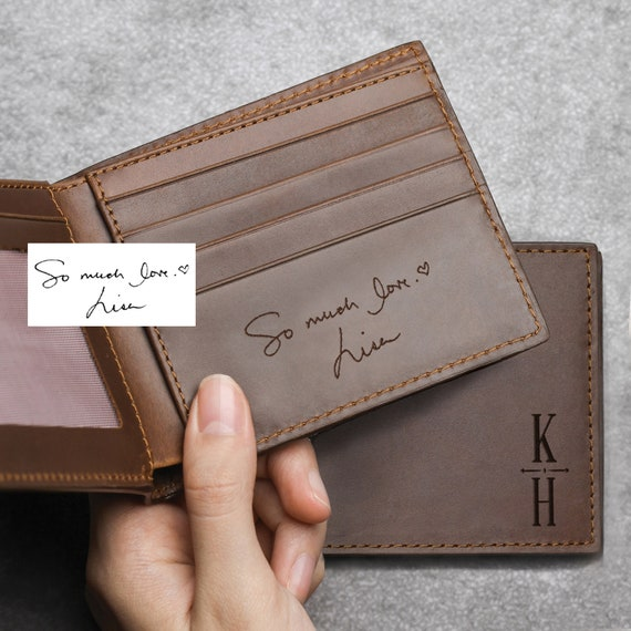 Engraved Wallet For Husband Gift For Husband NEVER FORGET Personalized Wallet For Husband Mens Wallet Christmas Gifts Leather Wallet