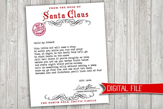 graphic regarding Elf on the Shelf Welcome Letter Printable identified as Elf upon a Shelf WELCOME letter - prompt electronic obtain printable