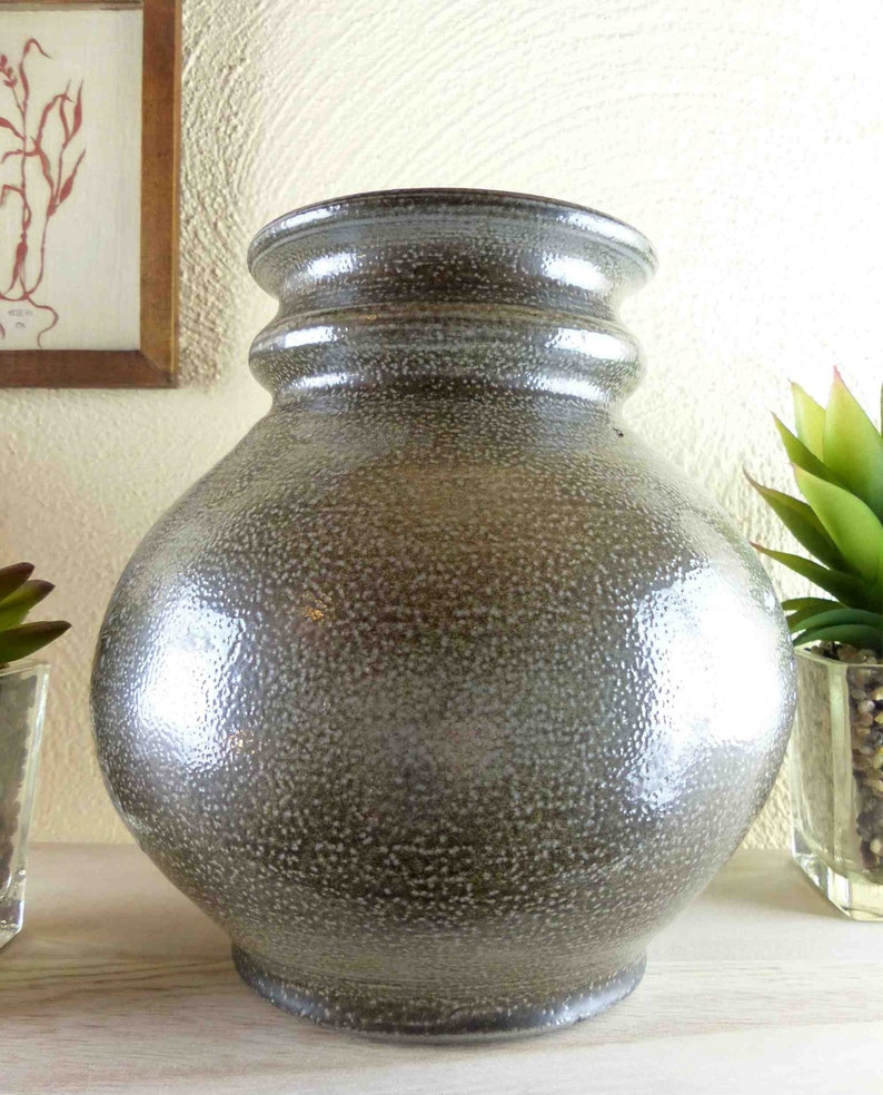 Grenzhausen Handcrafted rare STUDIO Vase made by OTTO BLUM vintage pottery midcentury ceramics collectible Birthday gift him her Germany