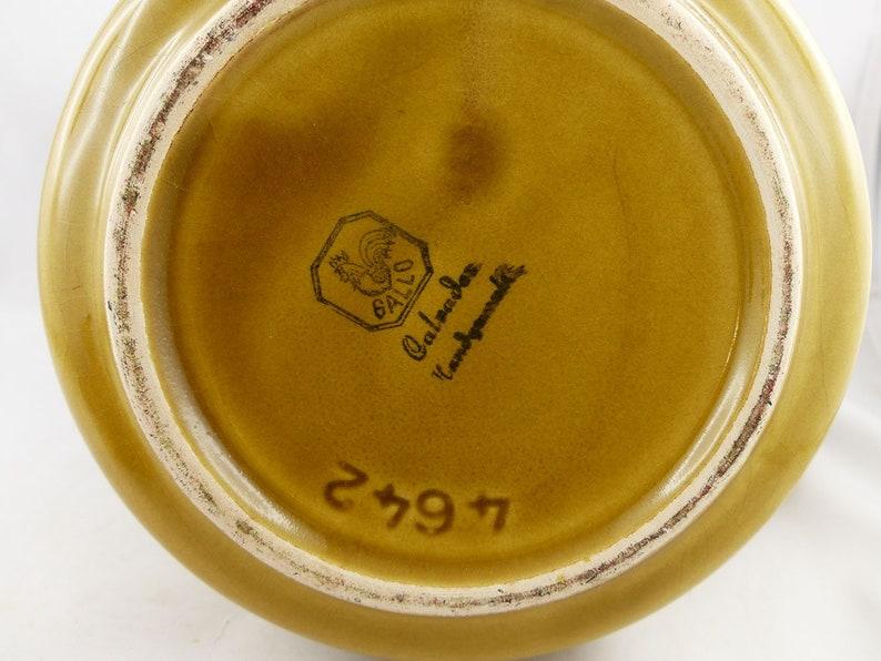 Rare VILLEROY BOCH TEAPOT /'Gallo/' Westgerman pottery home decor coffeepot Xmas gift mid century vintage 60s 70s handpainted ceramic design