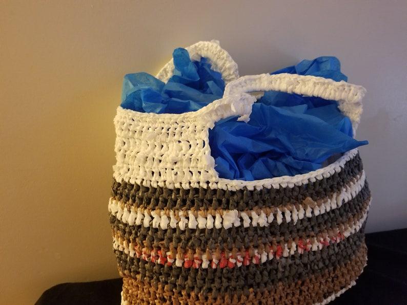 Crochet Plarn Tote Bag 1
