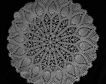 Large Crochet Pineapple Doily
