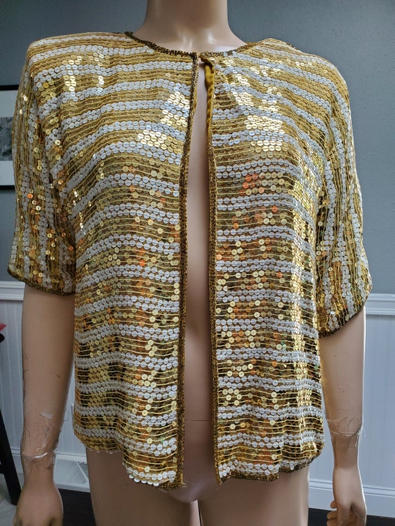 Vintage Jewel Queen-Sequin Jacket-Medium