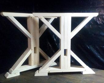 Trestle Farmhouse Table Legs