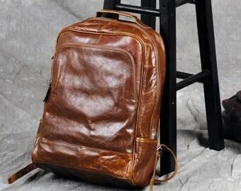 leather backpack/ Backpack / Laptop Backpack/ Backpack