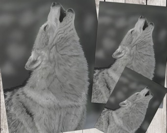 Animal DIGITAL PRINT Lone Wolf Digital Painting print at HOME, nature prints