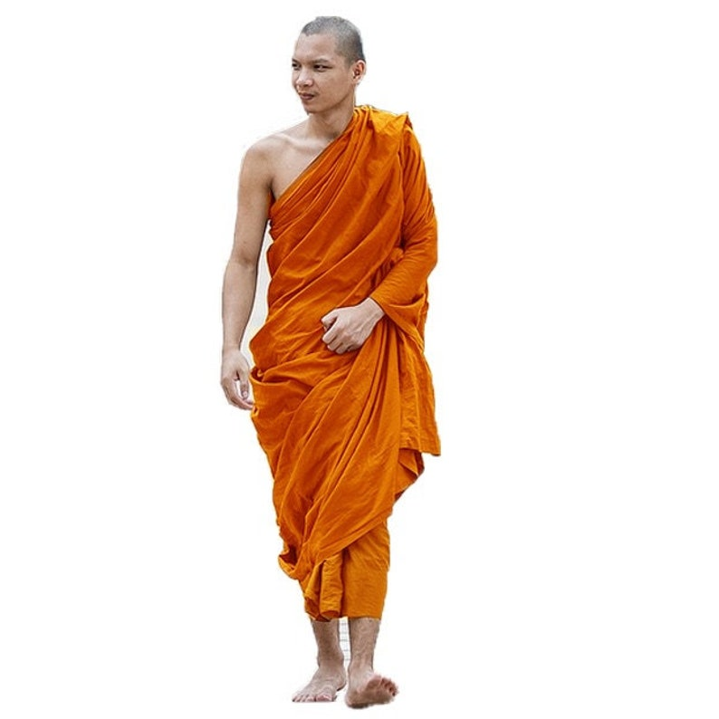 Buddhist 7 Set Theravada Thai Monk Full PriestEtsy Robe Pcs 0ZkXNnOP8w