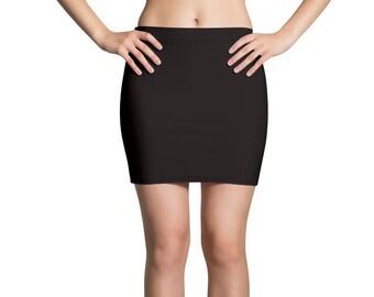 6d9eae70418 Solid Black Mini Skirt