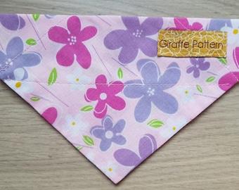 Purple Daisies Dog Bandana (Small, Medium or Large)