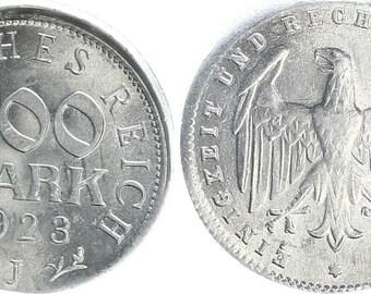 Kaiserreich Inflationszeit 200 Mark 1923 J prfr. ca.10 dezentriert