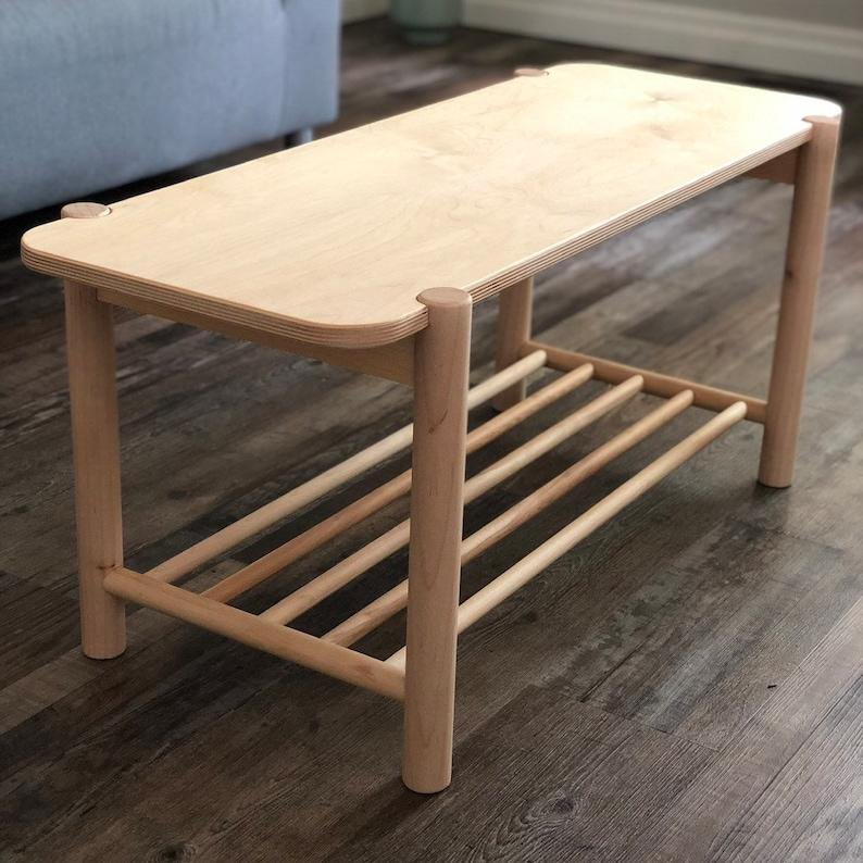 Wood Coffee Table, Farmhouse Table, Mid Century Modern Coffee Table